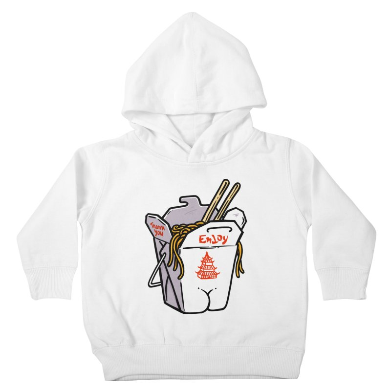 Chinese Take-Out Butt Kids Toddler Pullover Hoody by Brian Cook
