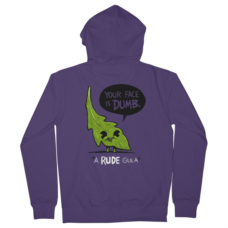 a-RUDE-gula Women's French Terry Zip-Up Hoody by Brian Cook