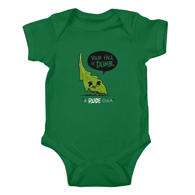 a-RUDE-gula Kids Baby Bodysuit by Brian Cook