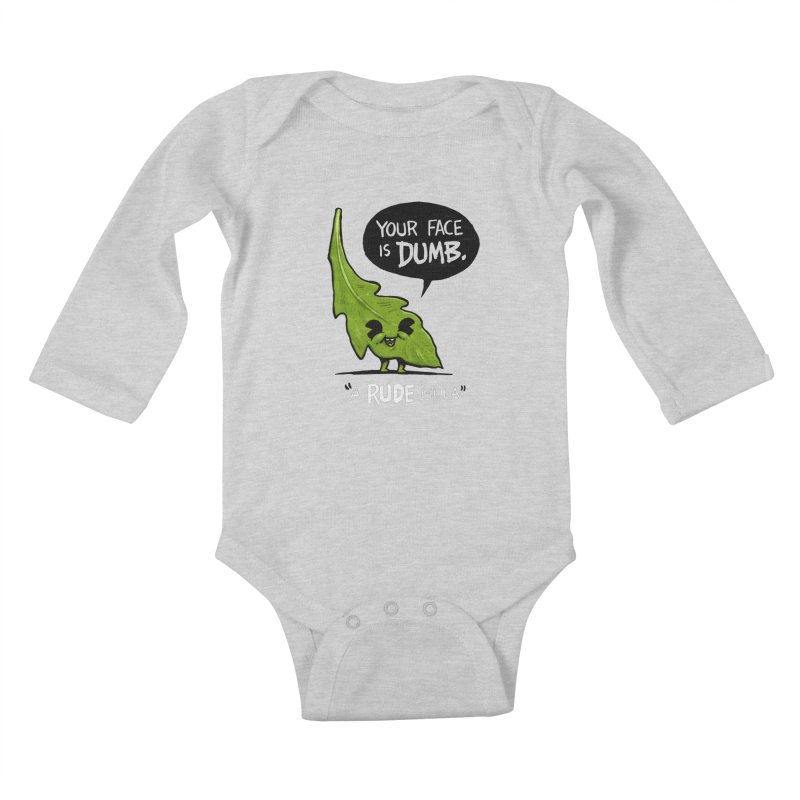 a-RUDE-gula Kids Baby Longsleeve Bodysuit by Brian Cook
