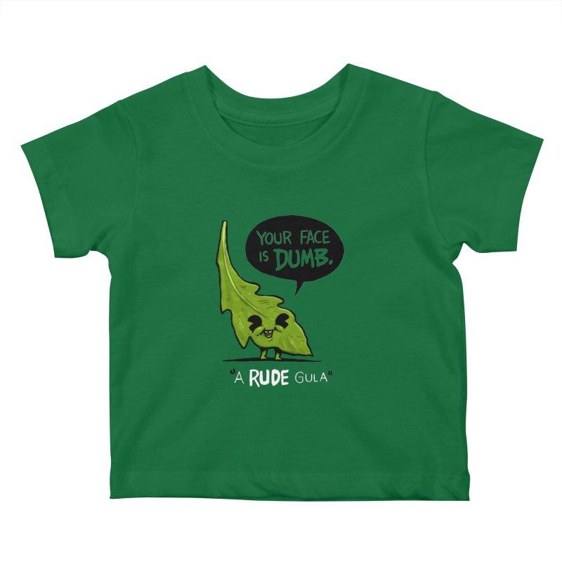 a-RUDE-gula Kids Baby T-Shirt by Brian Cook