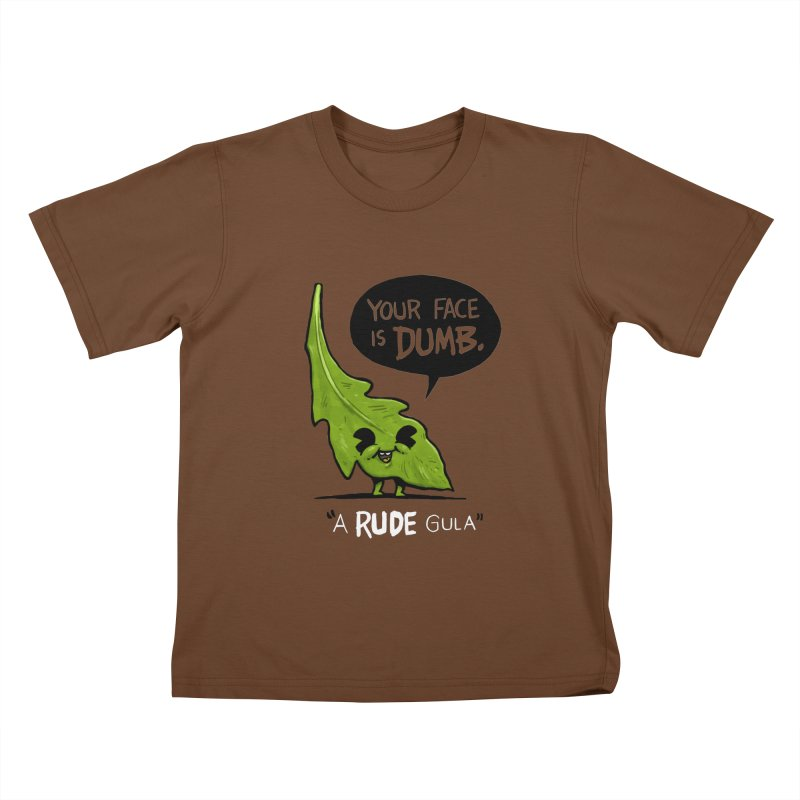 a-RUDE-gula Kids T-Shirt by Brian Cook