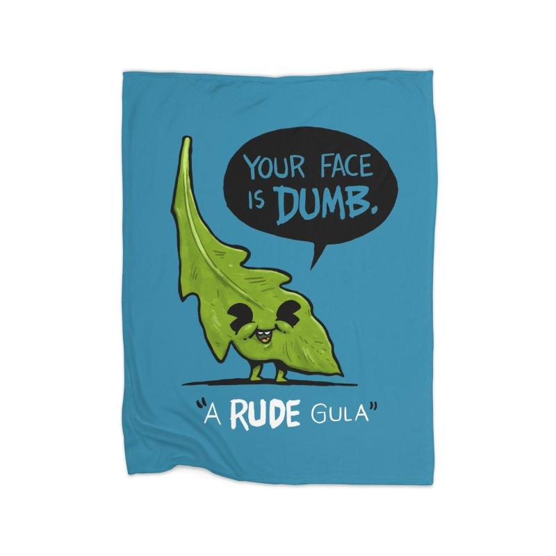 a-RUDE-gula Home Blanket by Brian Cook