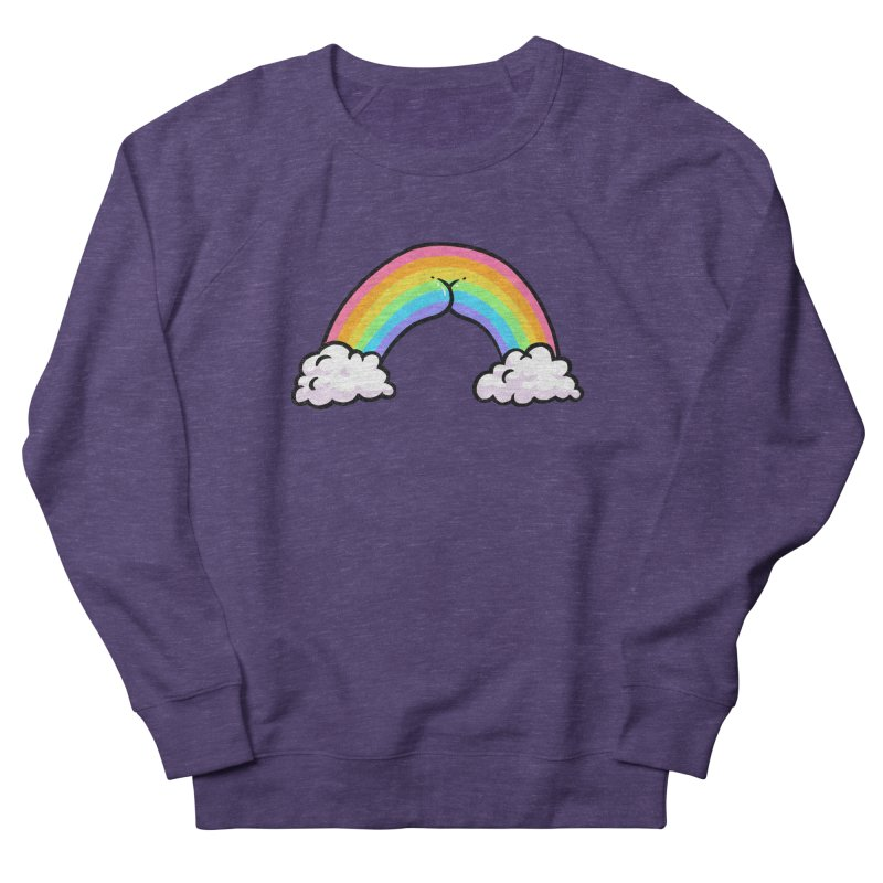 Rainbow Butt Women's French Terry Sweatshirt by Brian Cook