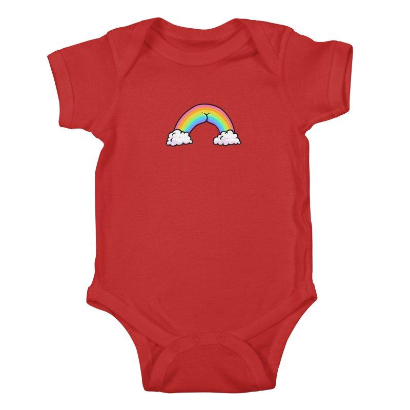 Rainbow Butt Kids Baby Bodysuit by Brian Cook