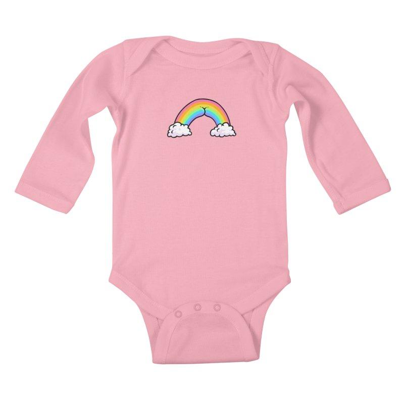 Rainbow Butt Kids Baby Longsleeve Bodysuit by Brian Cook