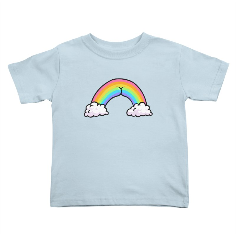 Rainbow Butt Kids Toddler T-Shirt by Brian Cook