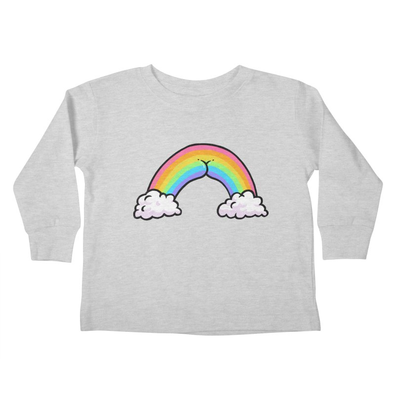 Rainbow Butt Kids Toddler Longsleeve T-Shirt by Brian Cook