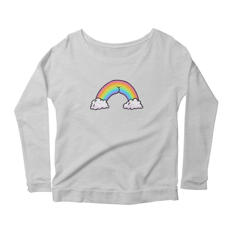 Rainbow Butt Women's Scoop Neck Longsleeve T-Shirt by Brian Cook
