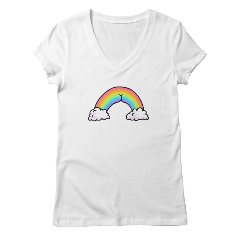 Rainbow Butt Women's V-Neck by Brian Cook