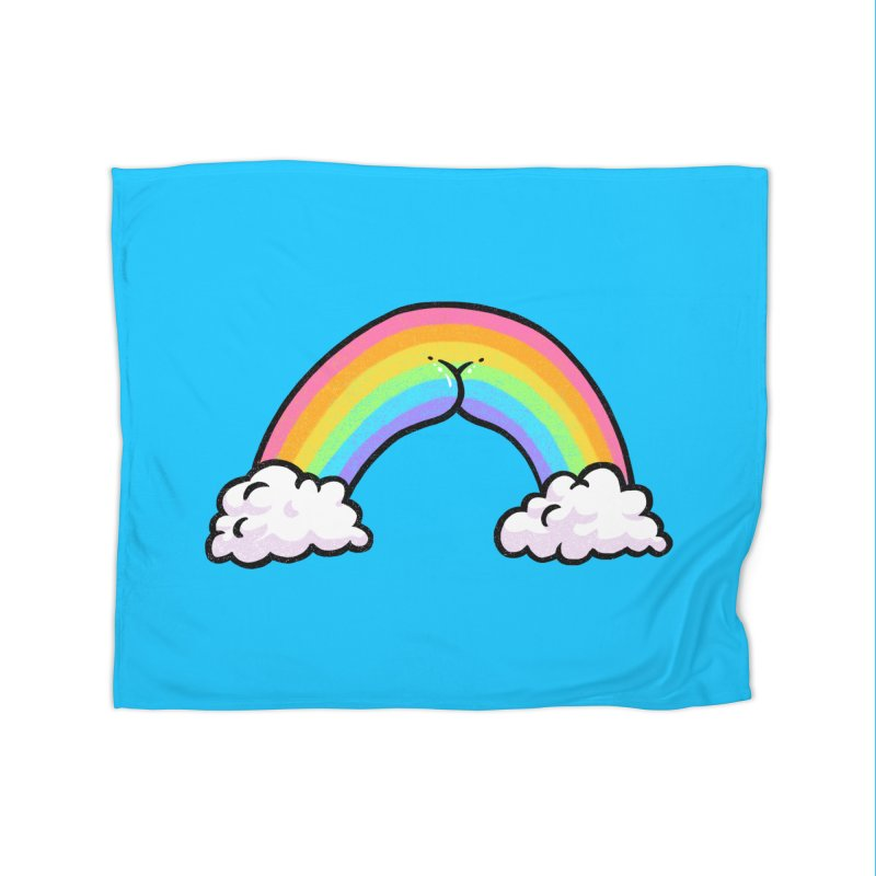 Rainbow Butt Home Blanket by Brian Cook
