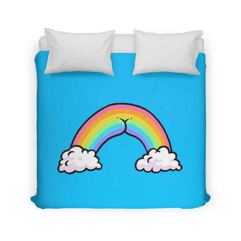 Rainbow Butt Home Duvet by Brian Cook