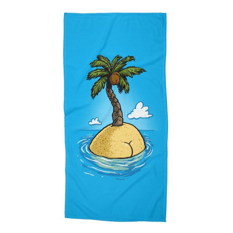 Island Butt in Beach Towel by Brian Cook