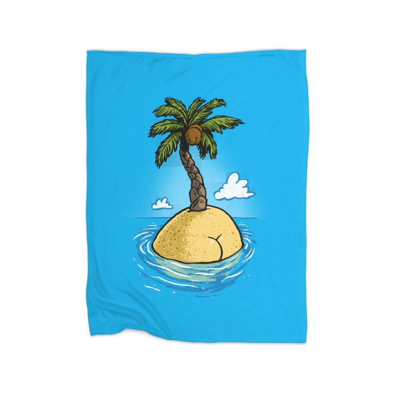 Island Butt Home Blanket by Brian Cook