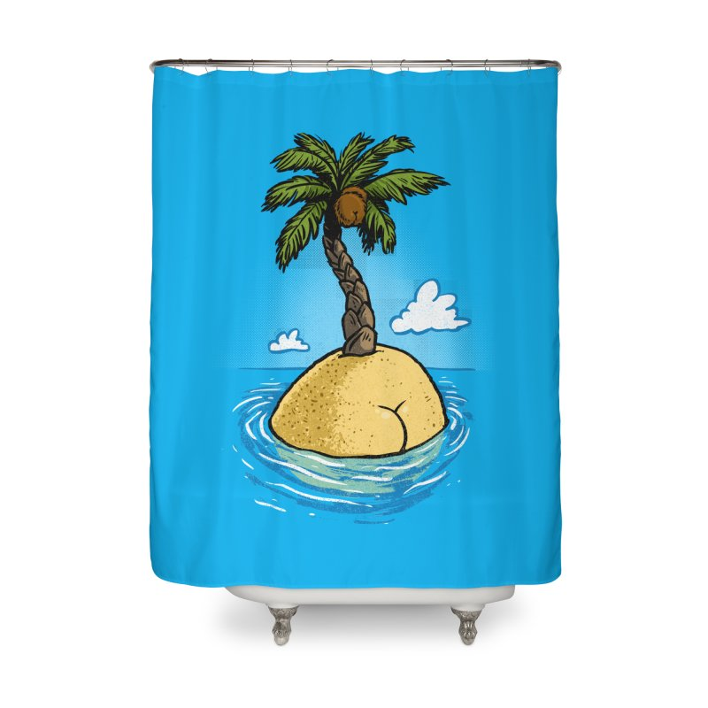 Island Butt Home Shower Curtain by Brian Cook