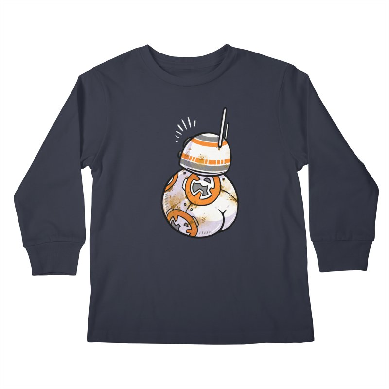BBooty-8 Kids Longsleeve T-Shirt by Brian Cook