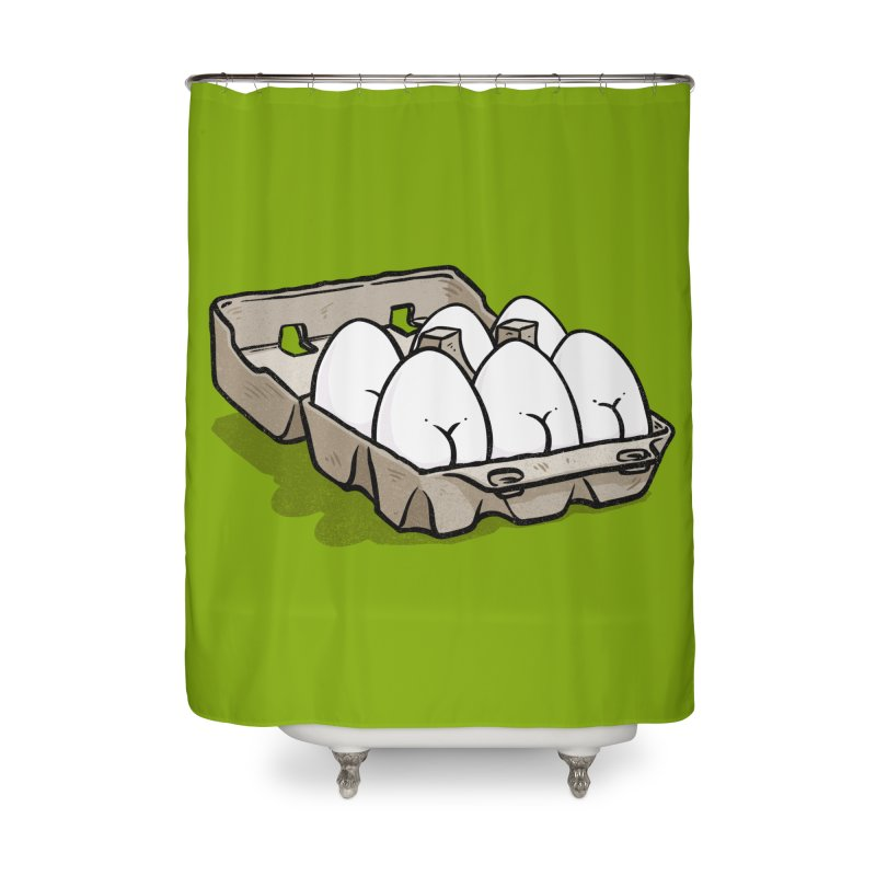 Egg Butt (Cracked Eggs) Home Shower Curtain by Brian Cook