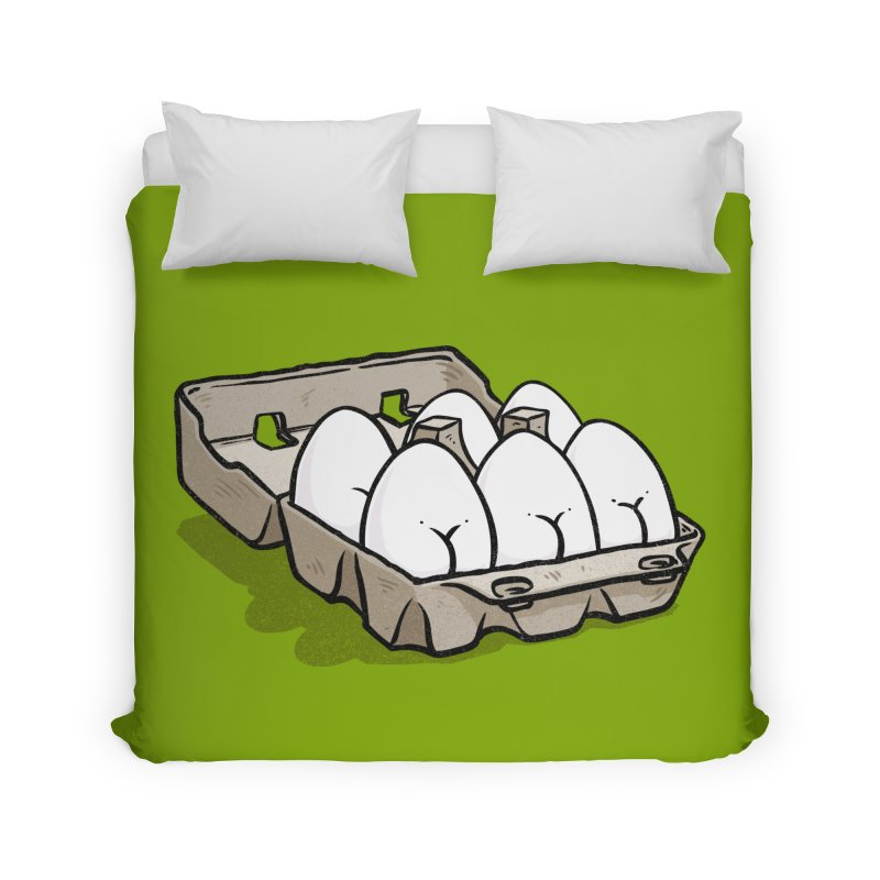 Egg Butt (Cracked Eggs) Home Duvet by Brian Cook