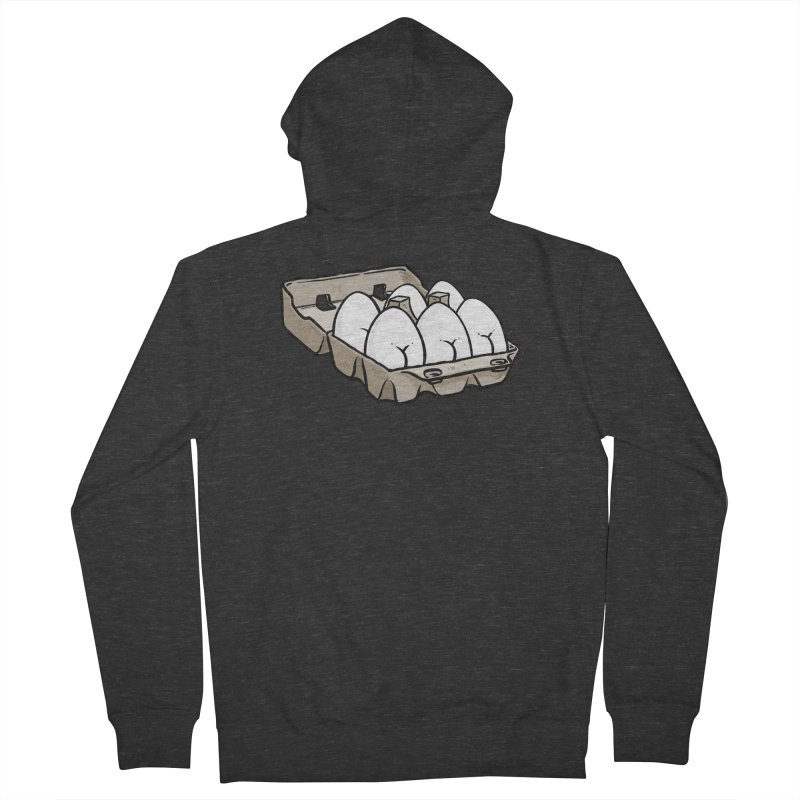 Egg Butt (Cracked Eggs) Women's French Terry Zip-Up Hoody by Brian Cook
