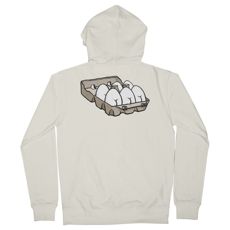 Egg Butt (Cracked Eggs) Men's French Terry Zip-Up Hoody by Brian Cook