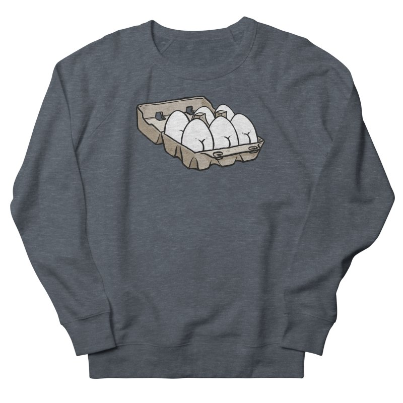 Egg Butt (Cracked Eggs) Women's French Terry Sweatshirt by Brian Cook