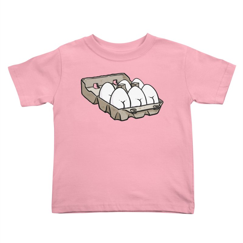 Egg Butt (Cracked Eggs) Kids Toddler T-Shirt by Brian Cook