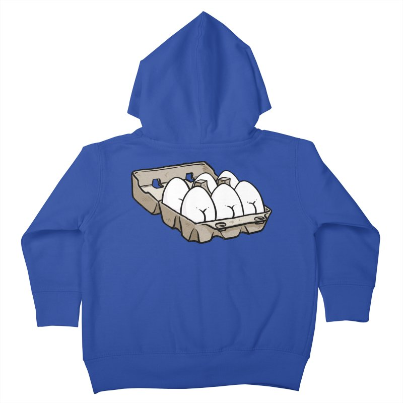 Egg Butt (Cracked Eggs) Kids Toddler Zip-Up Hoody by Brian Cook