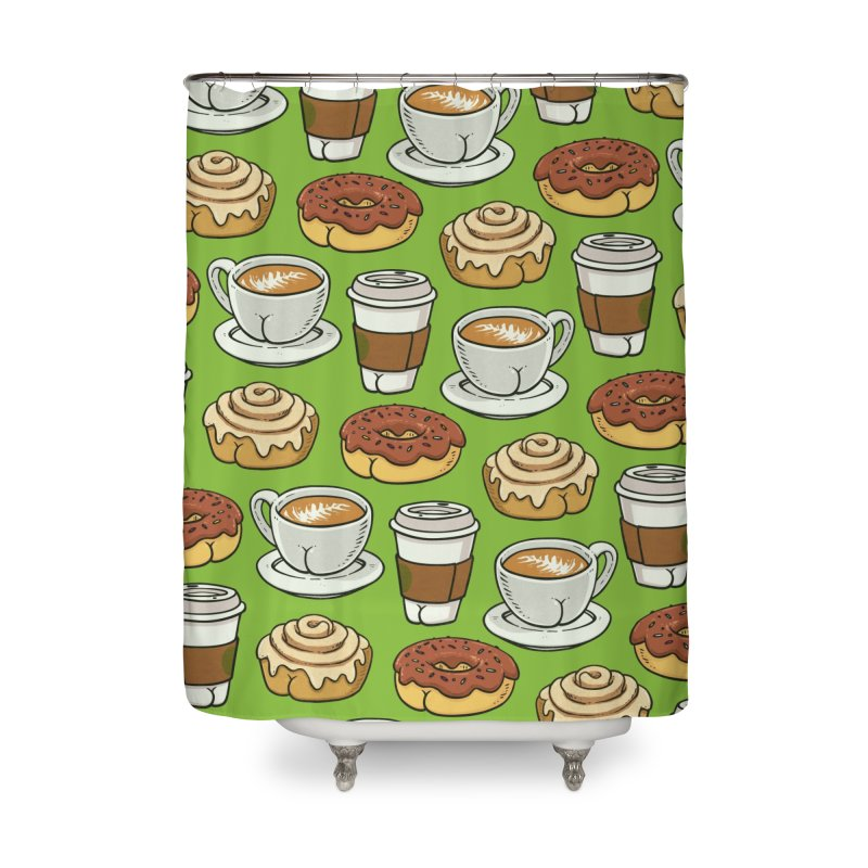 Breakfast Butts Home Shower Curtain by Brian Cook