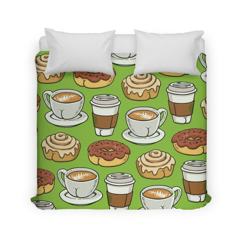 Breakfast Butts Home Duvet by Brian Cook