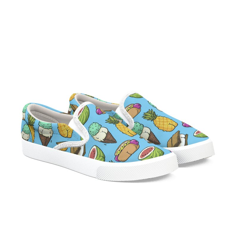 Summer Butts Pattern in Men's Slip-On Shoes by Brian Cook