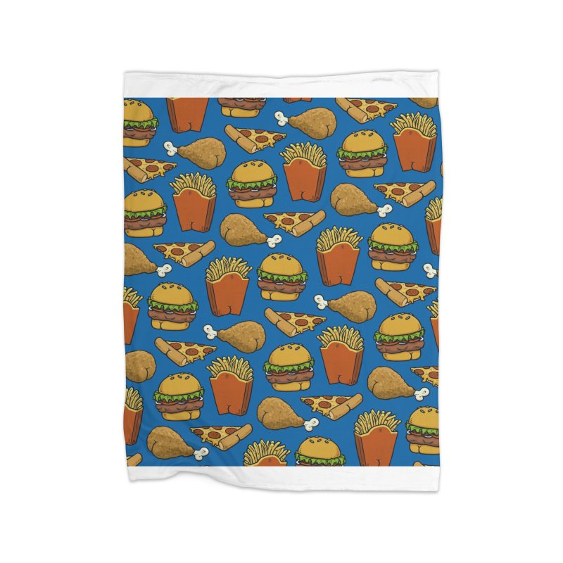 Fast Food Butt Pattern Home Blanket by Brian Cook