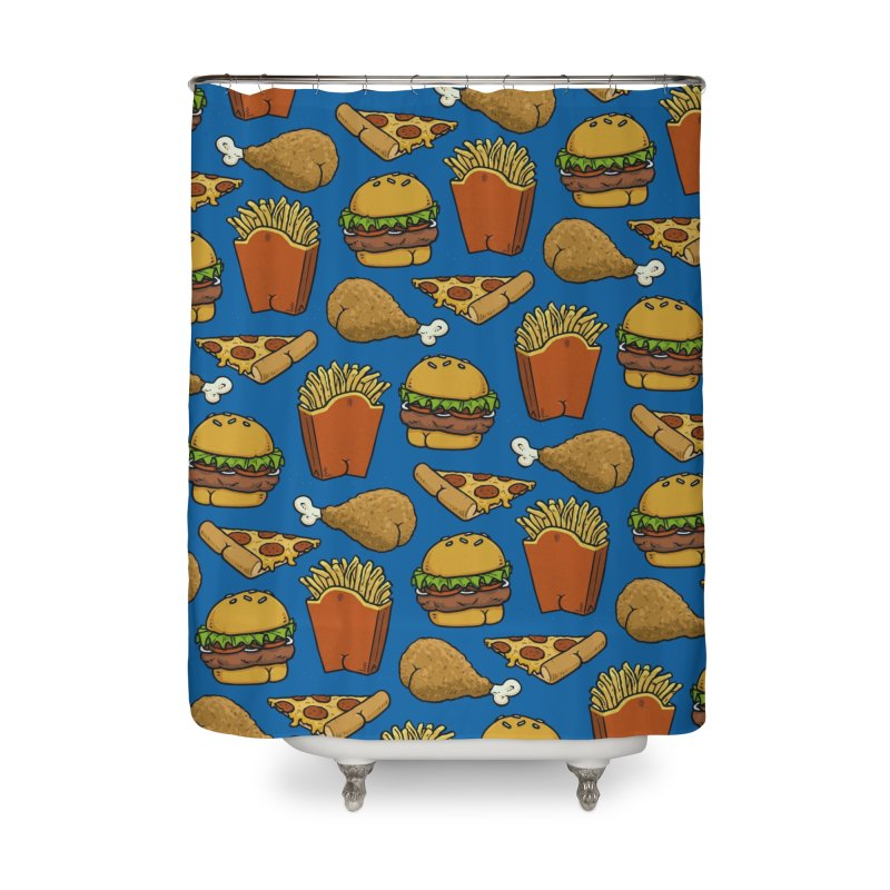 Fast Food Butt Pattern Home Shower Curtain by Brian Cook