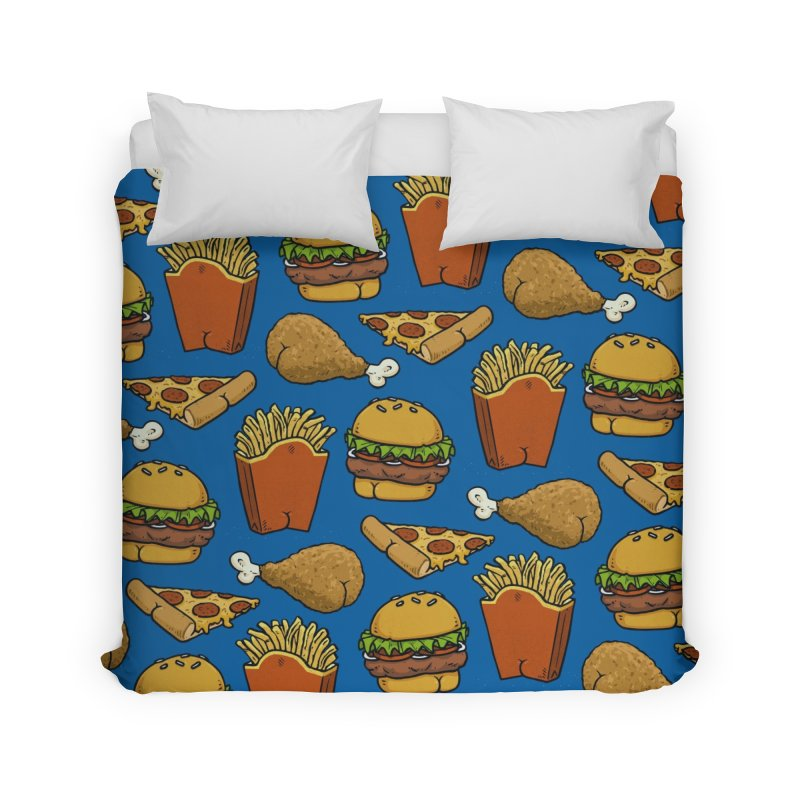 Fast Food Butt Pattern Home Duvet by Brian Cook