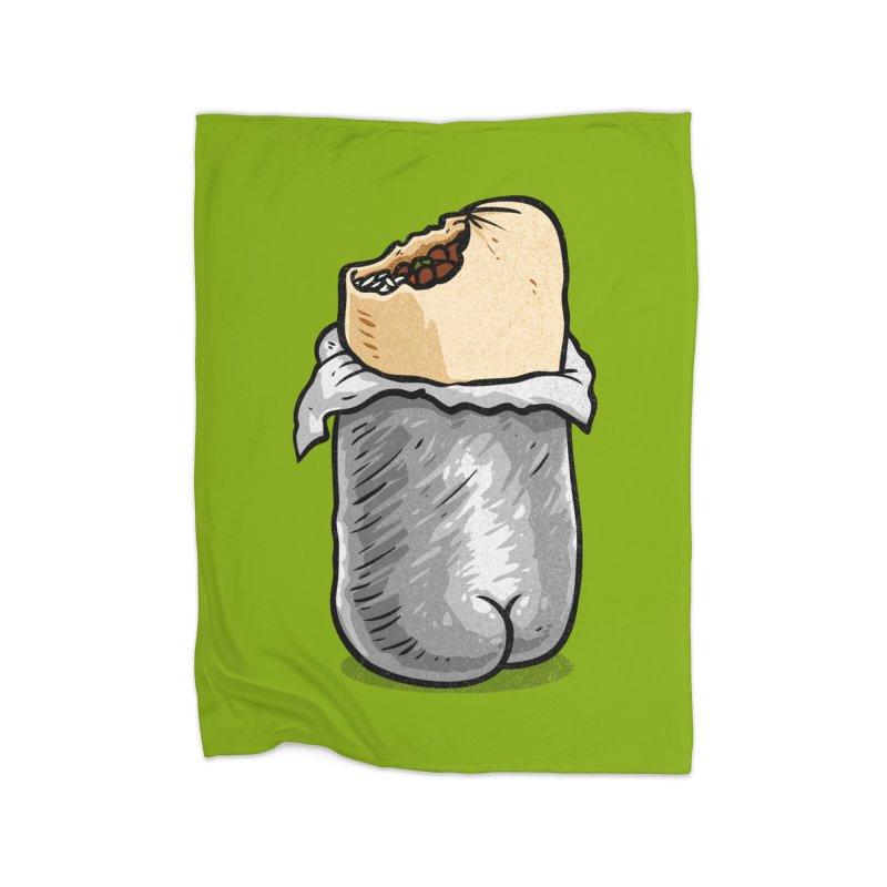 Burrito Butt (Buttrito) Home Blanket by Brian Cook