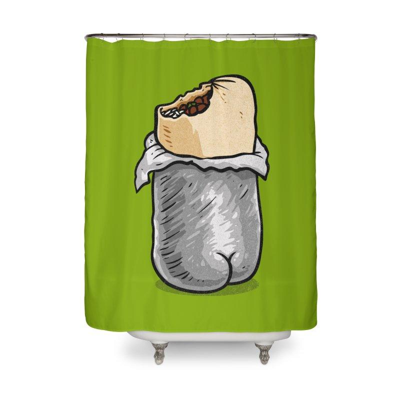 Burrito Butt (Buttrito) Home Shower Curtain by Brian Cook