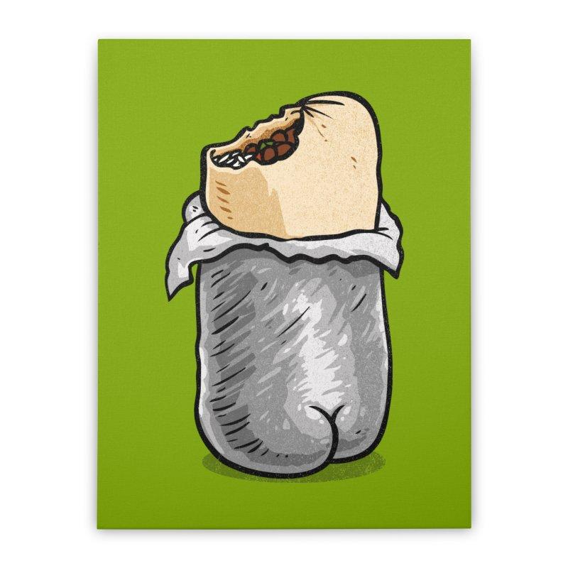 Burrito Butt (Buttrito) Home Stretched Canvas by Brian Cook