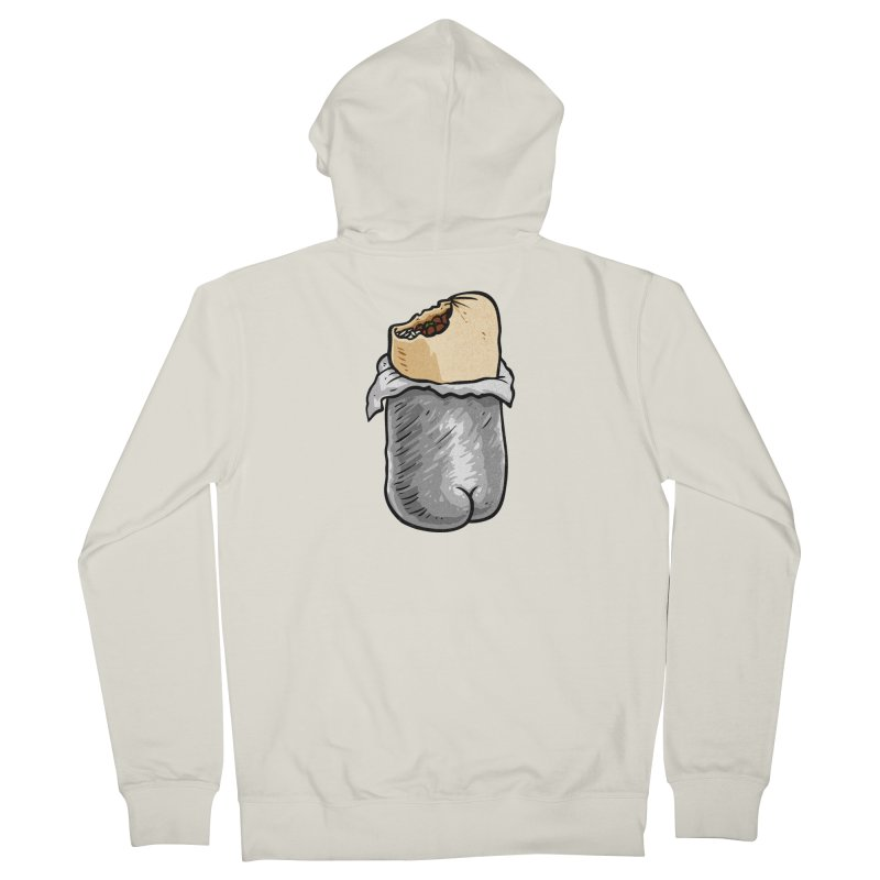 Burrito Butt (Buttrito) Women's French Terry Zip-Up Hoody by Brian Cook