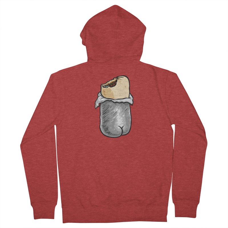 Burrito Butt (Buttrito) Men's French Terry Zip-Up Hoody by Brian Cook