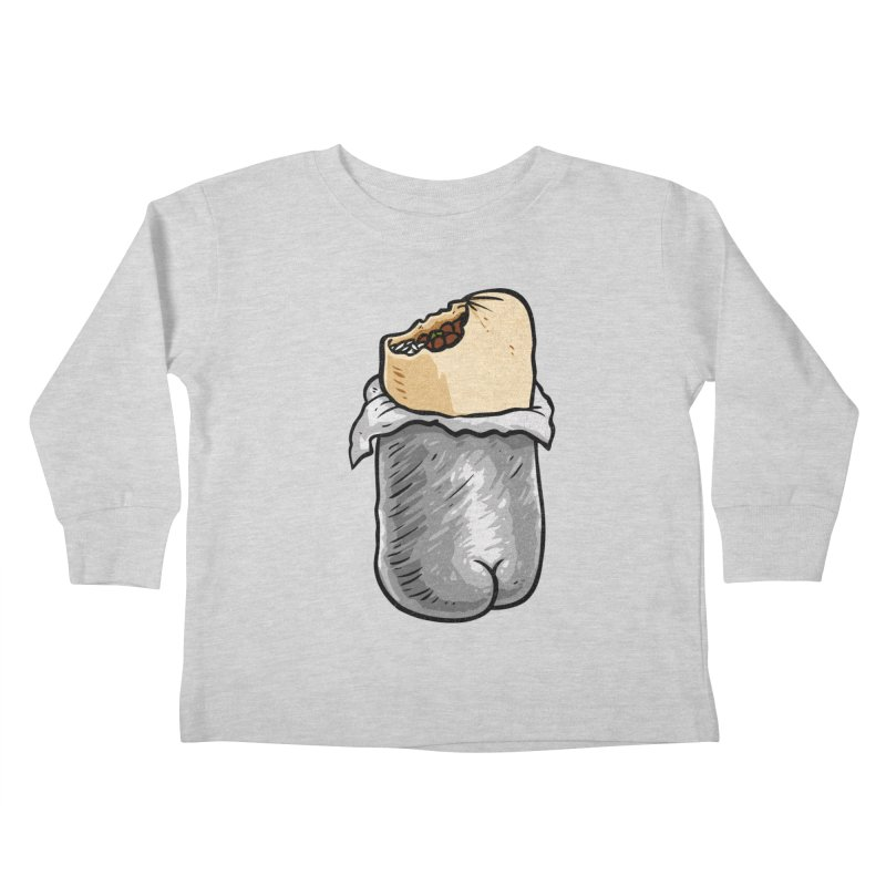 Burrito Butt (Buttrito) Kids Toddler Longsleeve T-Shirt by Brian Cook