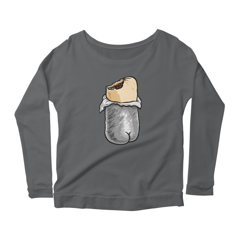 Burrito Butt (Buttrito) Women's Scoop Neck Longsleeve T-Shirt by Brian Cook