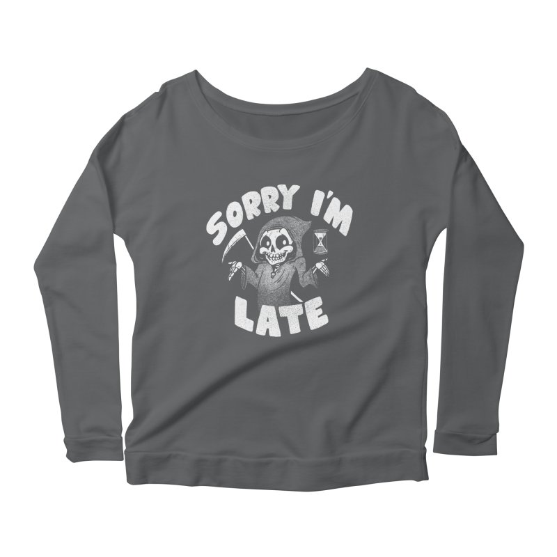 Sorry I'm Late Women's Scoop Neck Longsleeve T-Shirt by Brian Cook