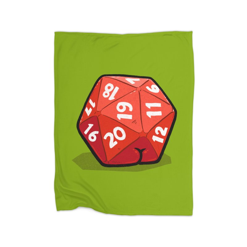 D20 Butt Home Blanket by Brian Cook