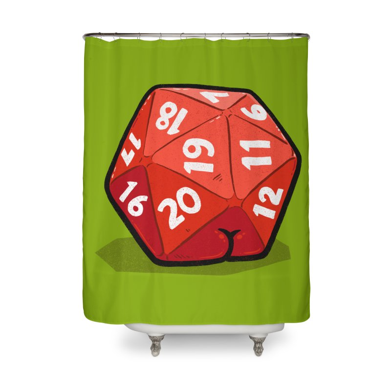 D20 Butt Home Shower Curtain by Brian Cook