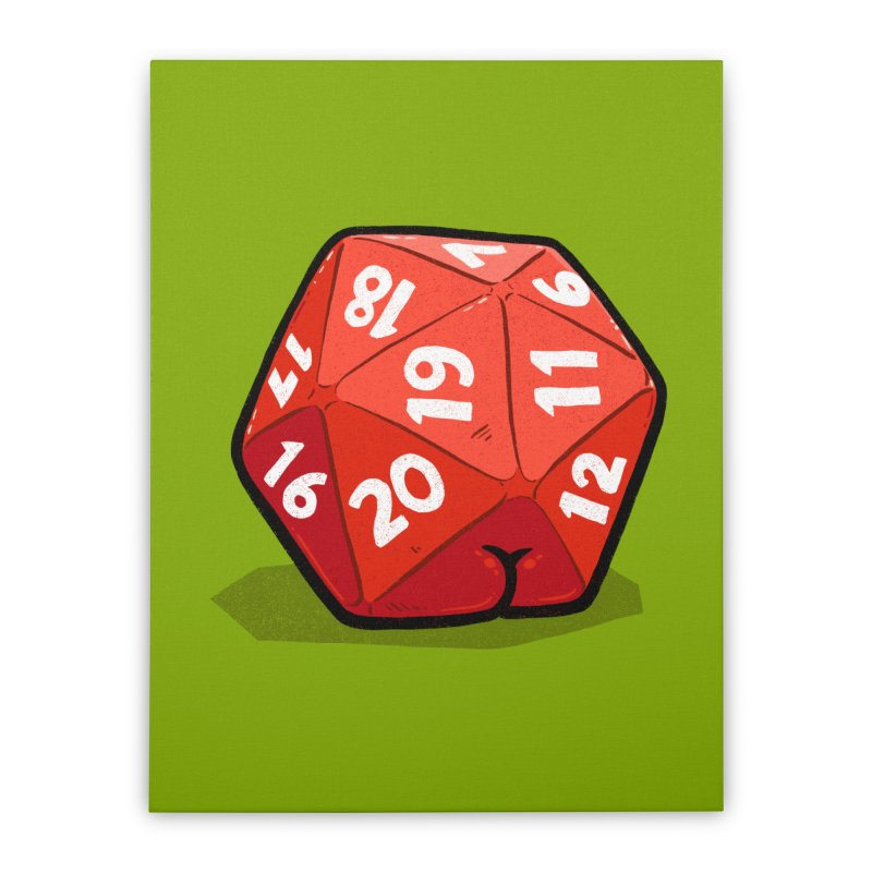 D20 Butt Home Stretched Canvas by Brian Cook