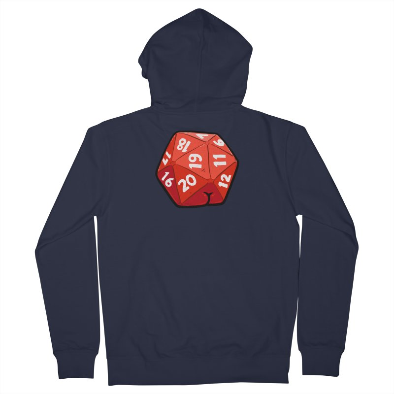 D20 Butt Men's French Terry Zip-Up Hoody by Brian Cook