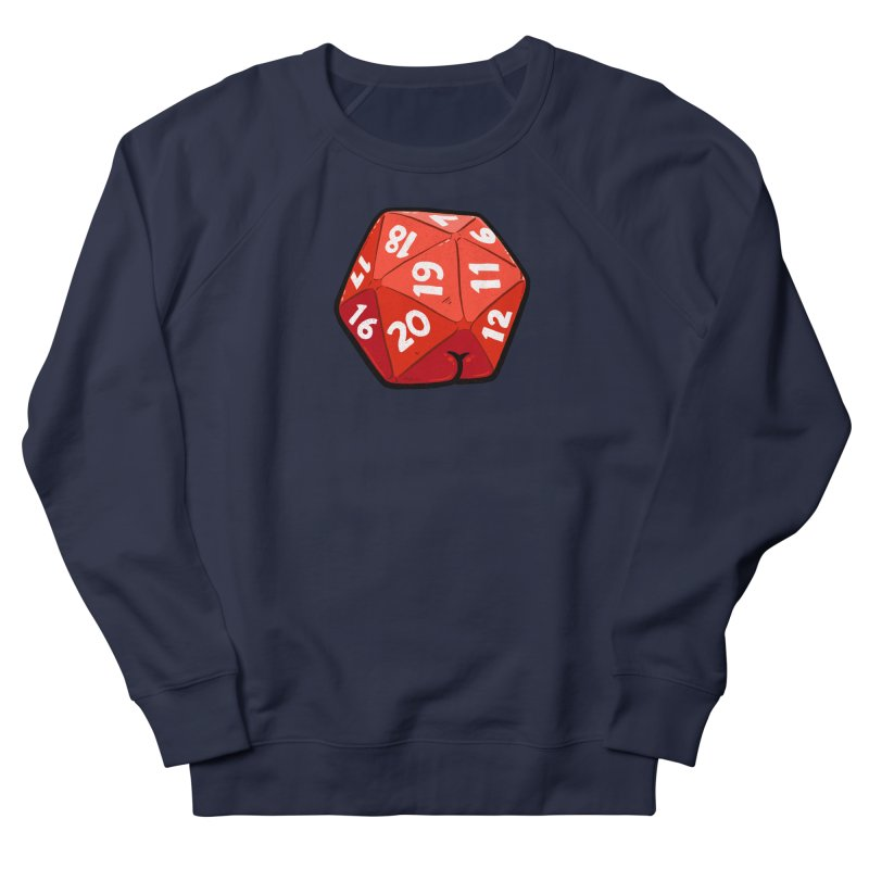 D20 Butt Men's French Terry Sweatshirt by Brian Cook