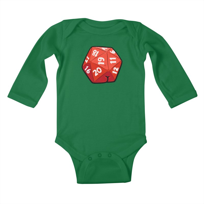 D20 Butt Kids Baby Longsleeve Bodysuit by Brian Cook