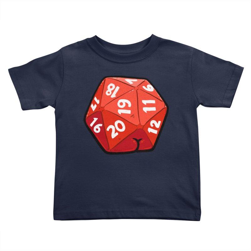 D20 Butt Kids Toddler T-Shirt by Brian Cook