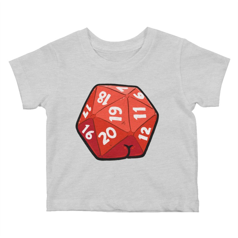 D20 Butt Kids Baby T-Shirt by Brian Cook