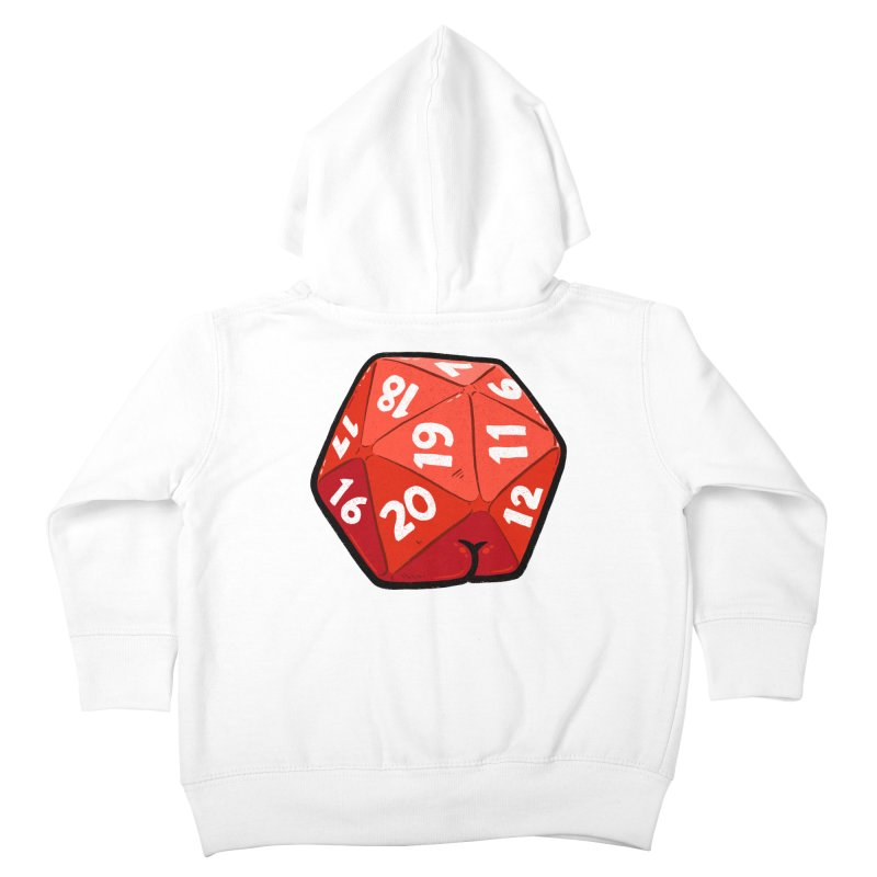 D20 Butt Kids Toddler Zip-Up Hoody by Brian Cook